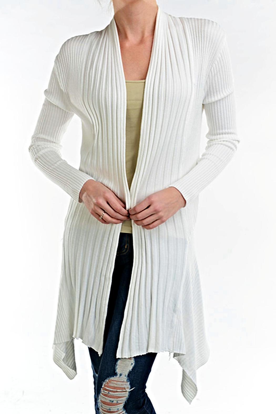fashion123 White Panel Cardigan - Main Image