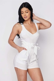 hera collection White Paperbag Romper - Product Mini Image