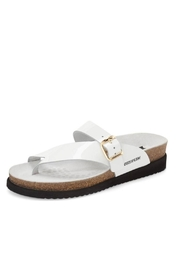 Mephisto White Patent Sandal - Front cropped