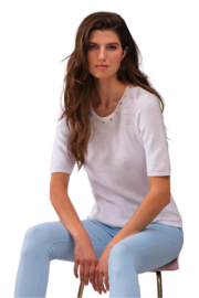 Alison Sheri White Pearl and Crystal Sweater - Product Mini Image