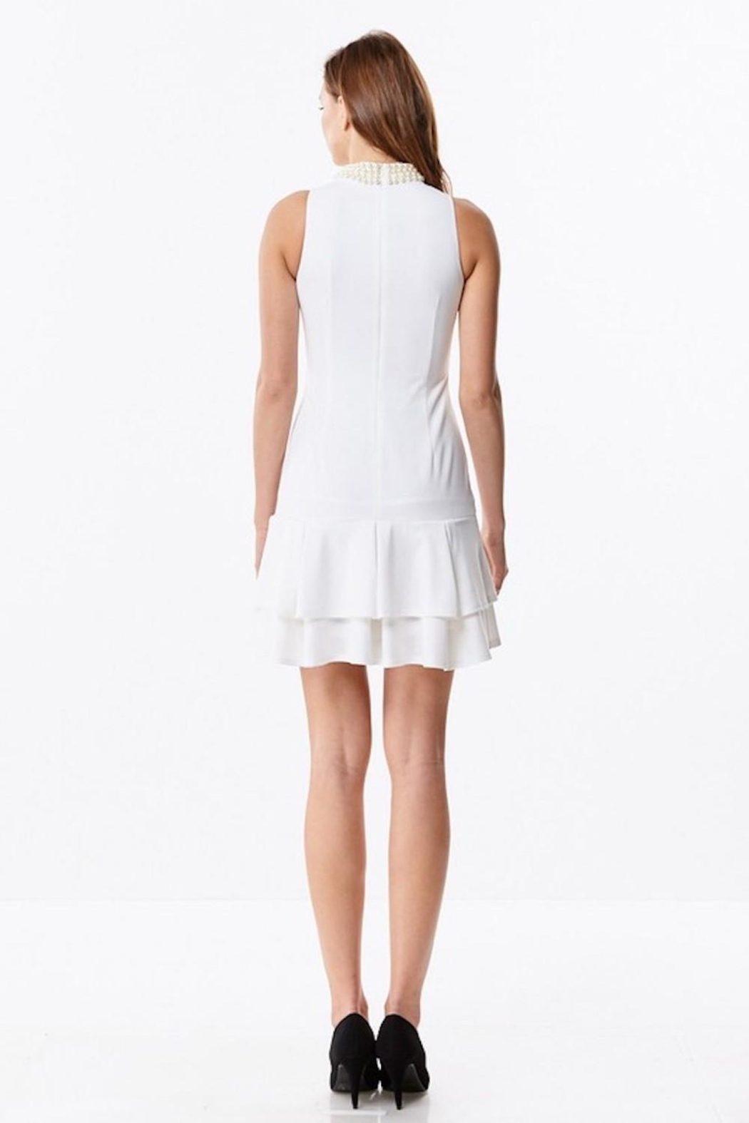 Ina White Pearl Dress - Back Cropped Image