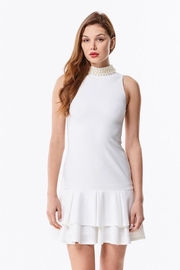 Ina White Pearl Dress - Product Mini Image