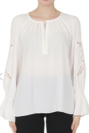 Joseph Ribkoff White Peasant Blouse - Product Mini Image