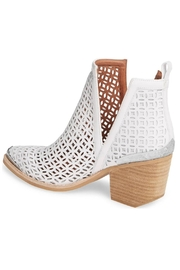 Jeffrey Campbell White Perforated Booties - Front full body