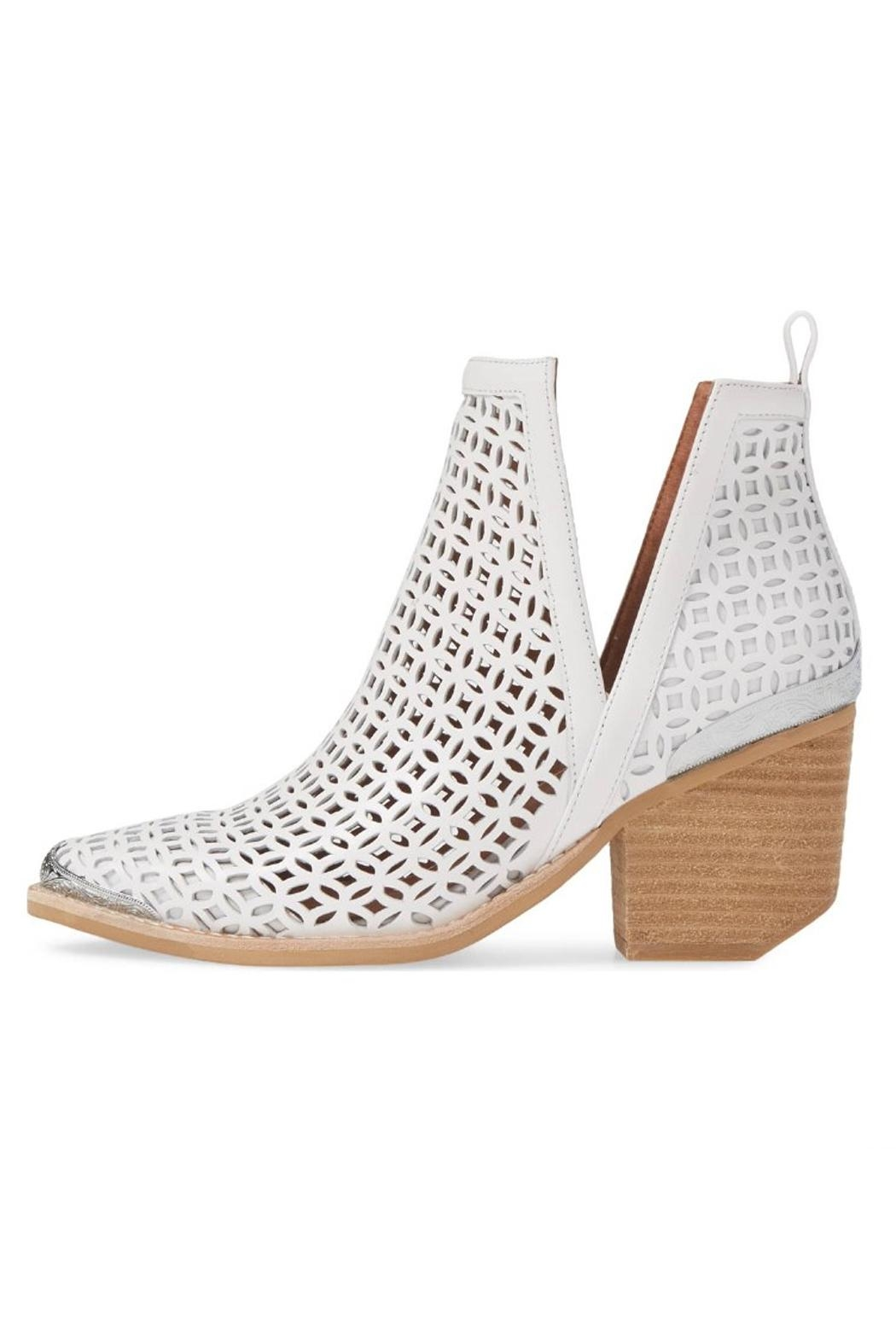 Jeffrey Campbell White Perforated Booties - Main Image