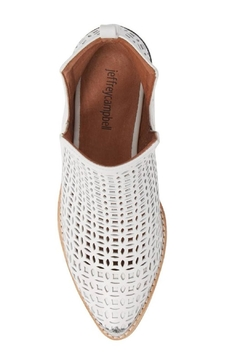 Jeffrey Campbell White Perforated Booties - Alternate List Image