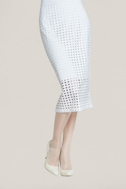 Clara Sunwoo White Perforated Skirt - Product Mini Image