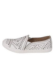 Earth White Perforated Sneaker - Front cropped