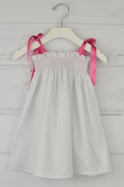 Granlei 1980 White & Pink Dress - Front cropped