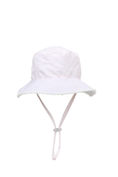 Snapper Rock White/Pink Reversible Bucket Hat - Product List Image