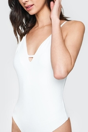 Sugarlips White Plunging Bodysuit - Side cropped