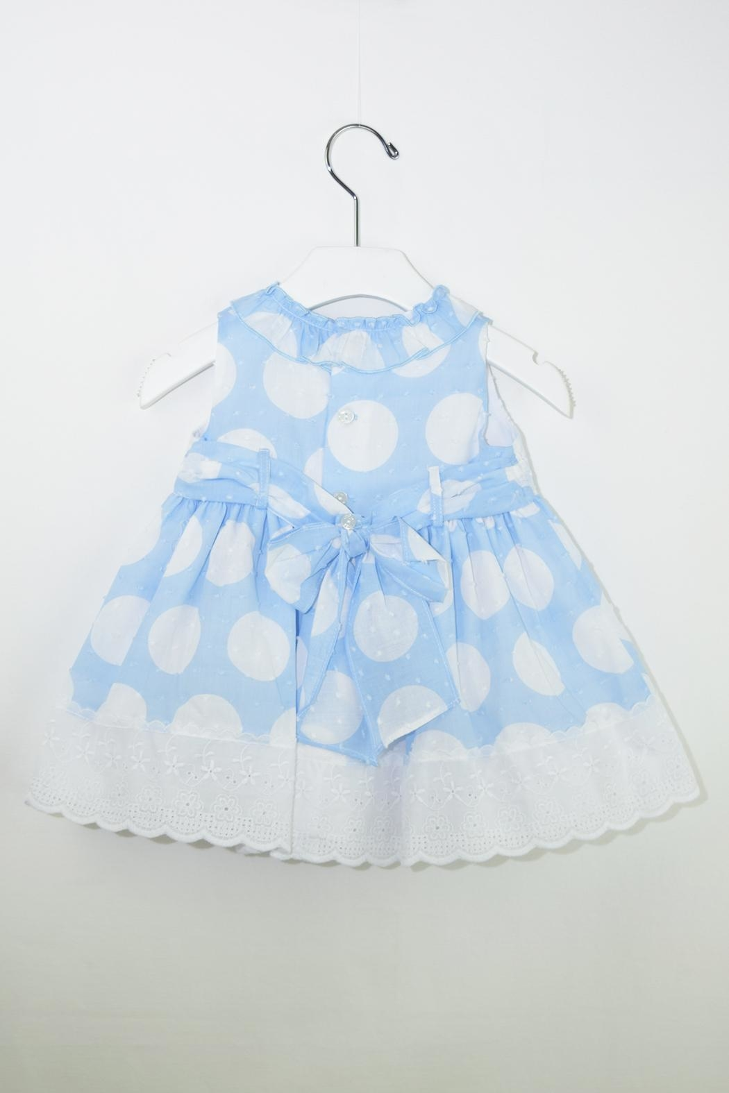 Dolce Petit White Polkadots Dress - Front Full Image