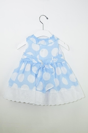 Dolce Petit White Polkadots Dress - Front full body