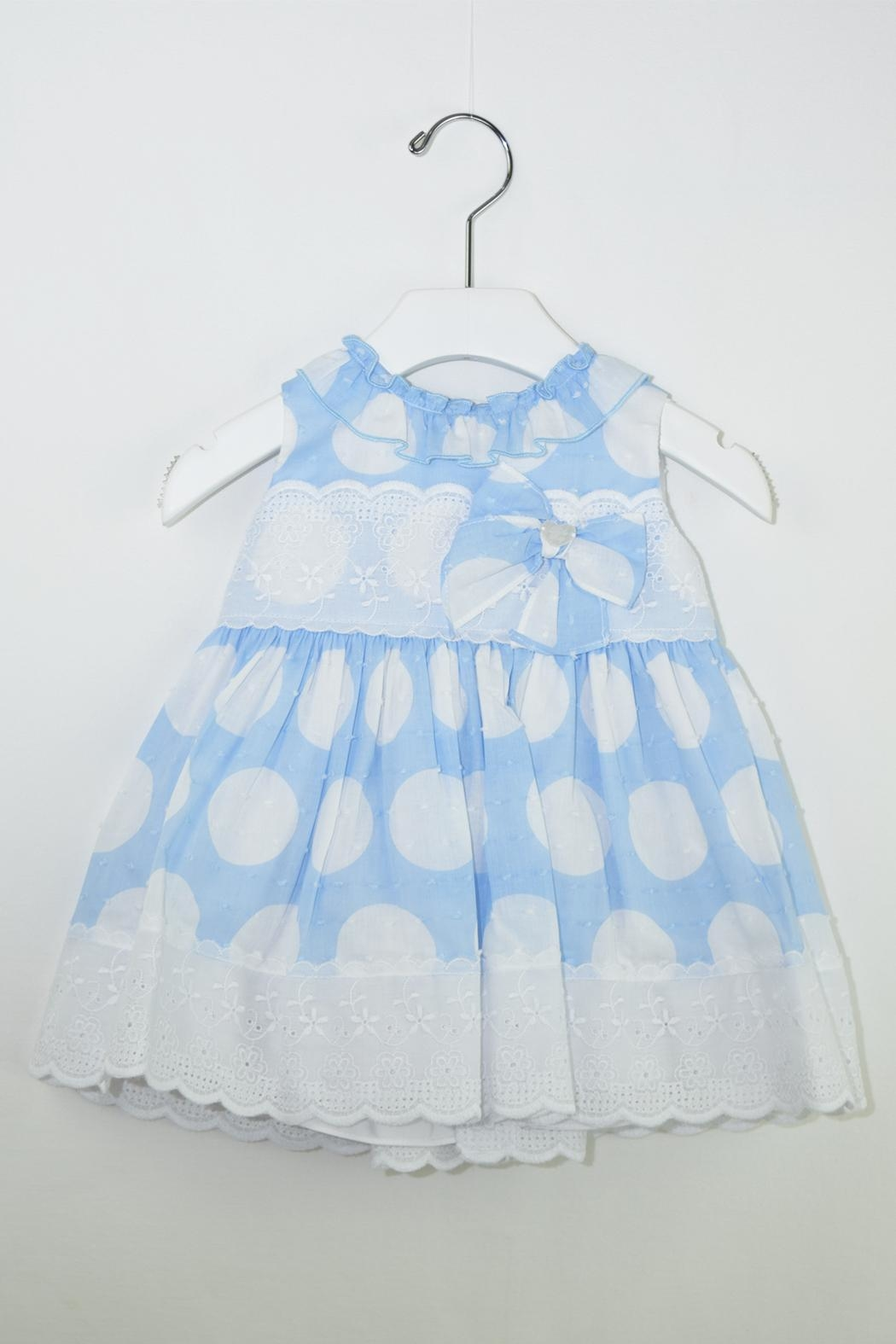 Dolce Petit White Polkadots Dress - Main Image