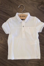 IKKS White Polo Shirt - Front cropped