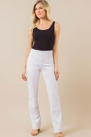 Simply Noelle White Ponte Slacks - Product Mini Image