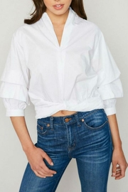 Hayden Los Angeles White Poplin Blouse - Product Mini Image