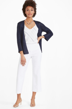 Nic +Zoe White pull on crop pant - Product List Image