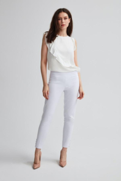 Shoptiques Product: White pull-on styling straight leg pant.