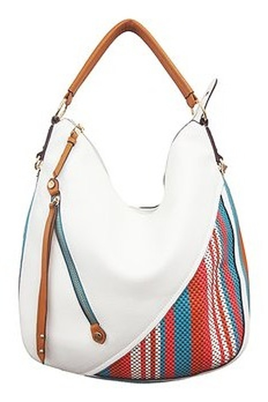 Sondra Roberts White Purse with accent - Main Image
