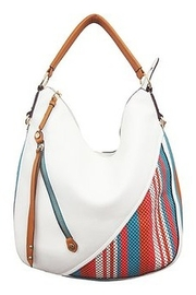 Sondra Roberts White Purse with accent - Product Mini Image