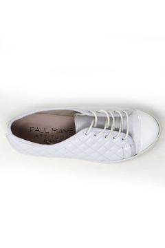 Paul Mayer White Quilted Sneakers - Alternate List Image