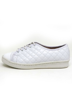 Paul Mayer White Quilted Sneakers - Product List Image