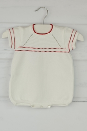 Granlei 1980 White & Red Onesie - Front cropped