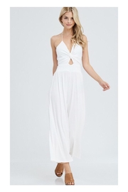 Polly & Esther White Ribbed Jumpsuit - Product Mini Image