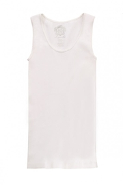 Sugar Lips White Ribbed Tank - Front full body