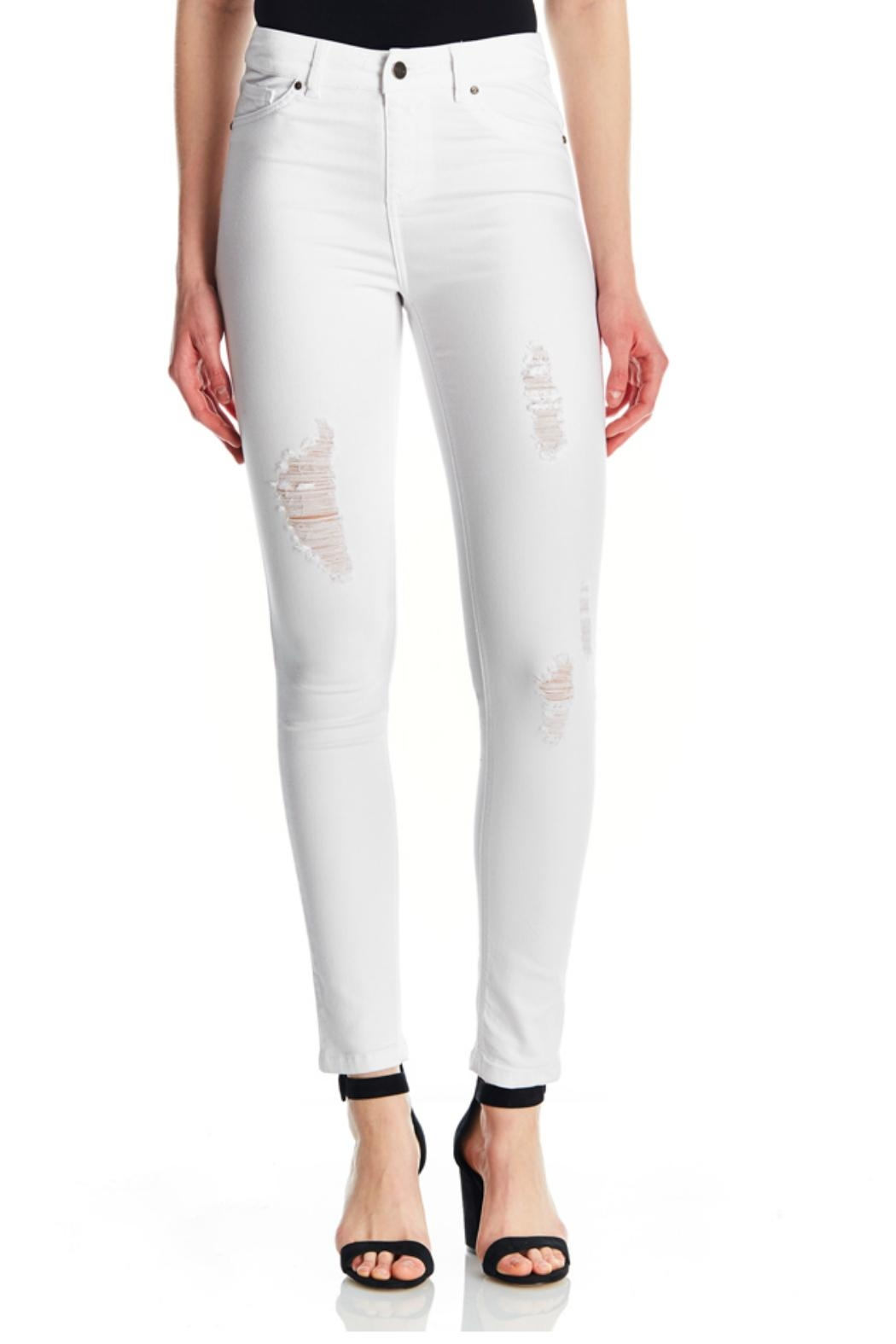 Tyler Madison White Ripped Jeans - Main Image