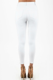 Imagine That White Ripped Jeans - Back cropped