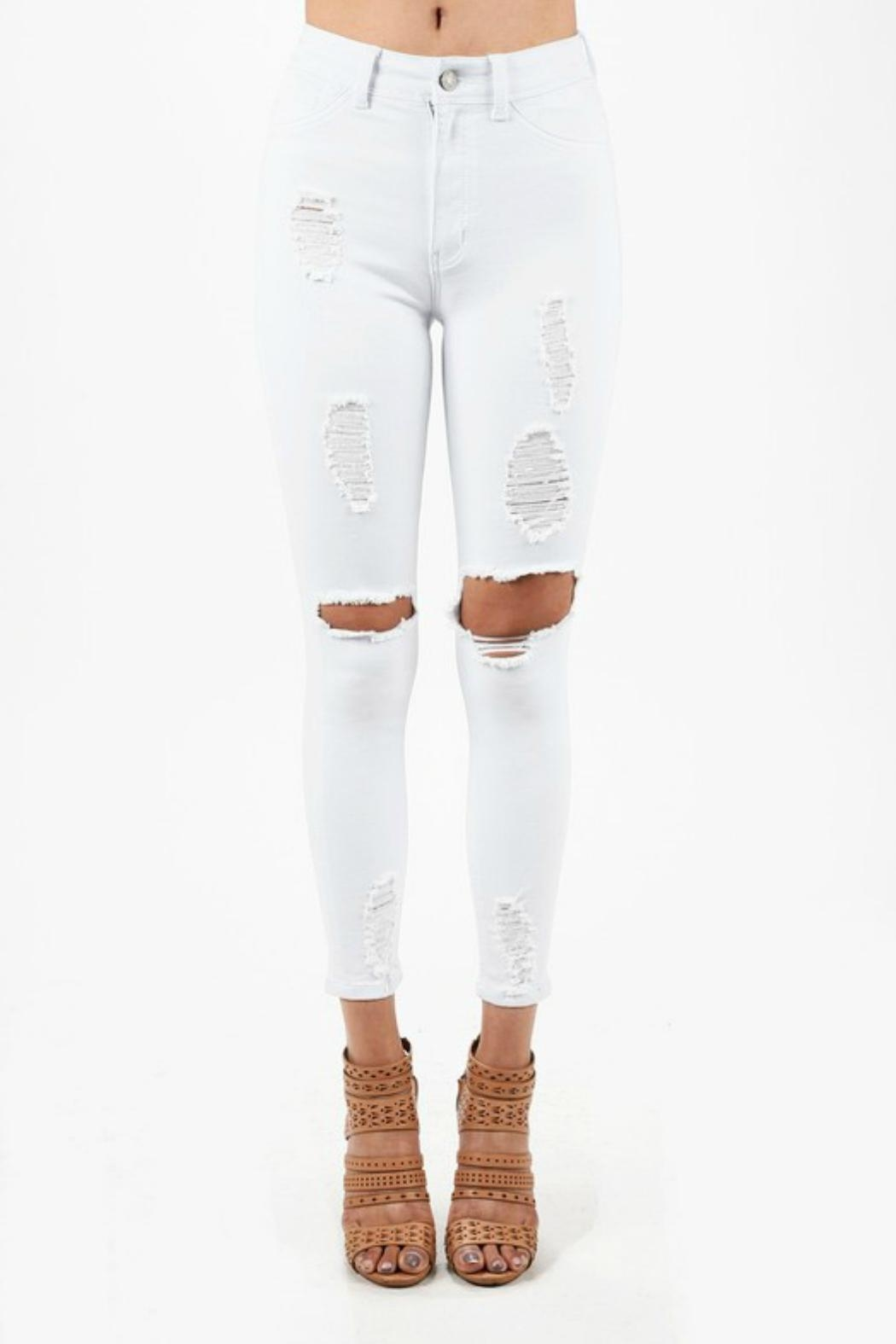 Imagine That White Ripped Jeans - Main Image