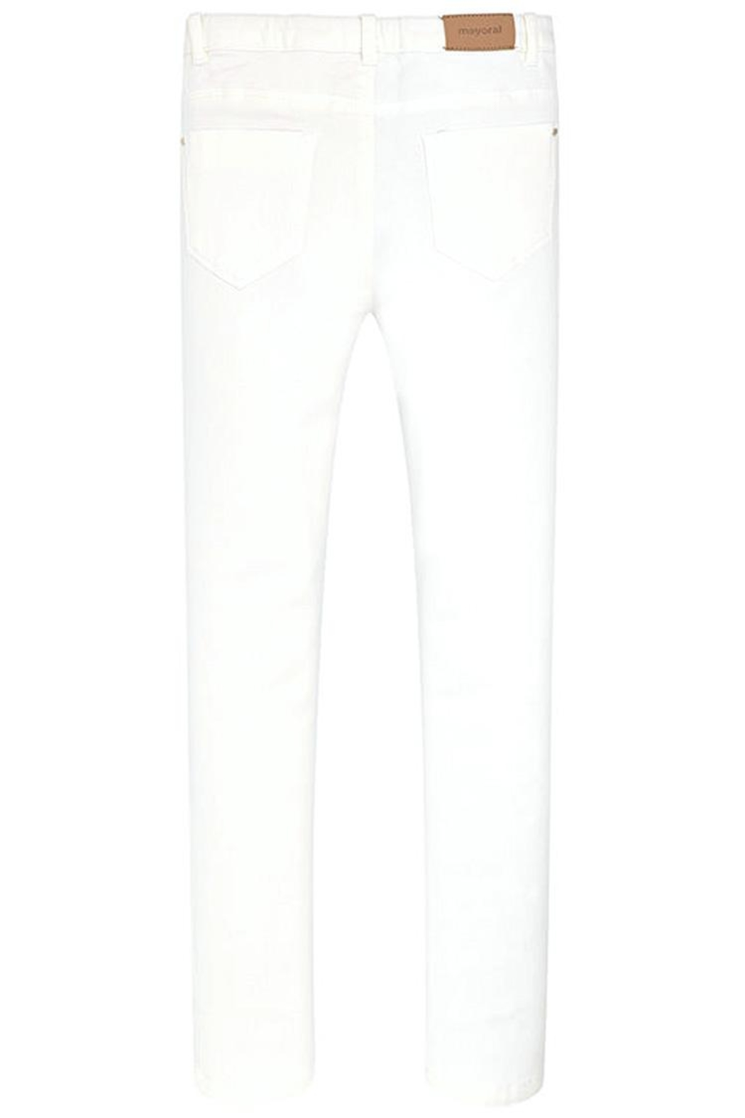 Mayoral White Ripped/studded Jean - Back Cropped Image