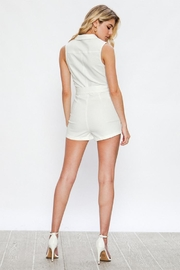 Jealous Tomato White Romper - Side cropped