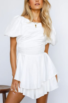 ONE AND ONLY COLLECTIVE White Romper - Product List Image
