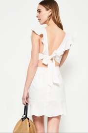 etophe studios White Ruffle Dress - Front full body