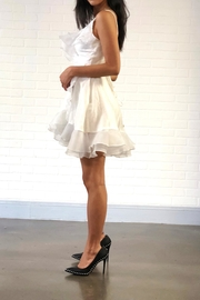 one & only White Ruffle Dress - Front full body