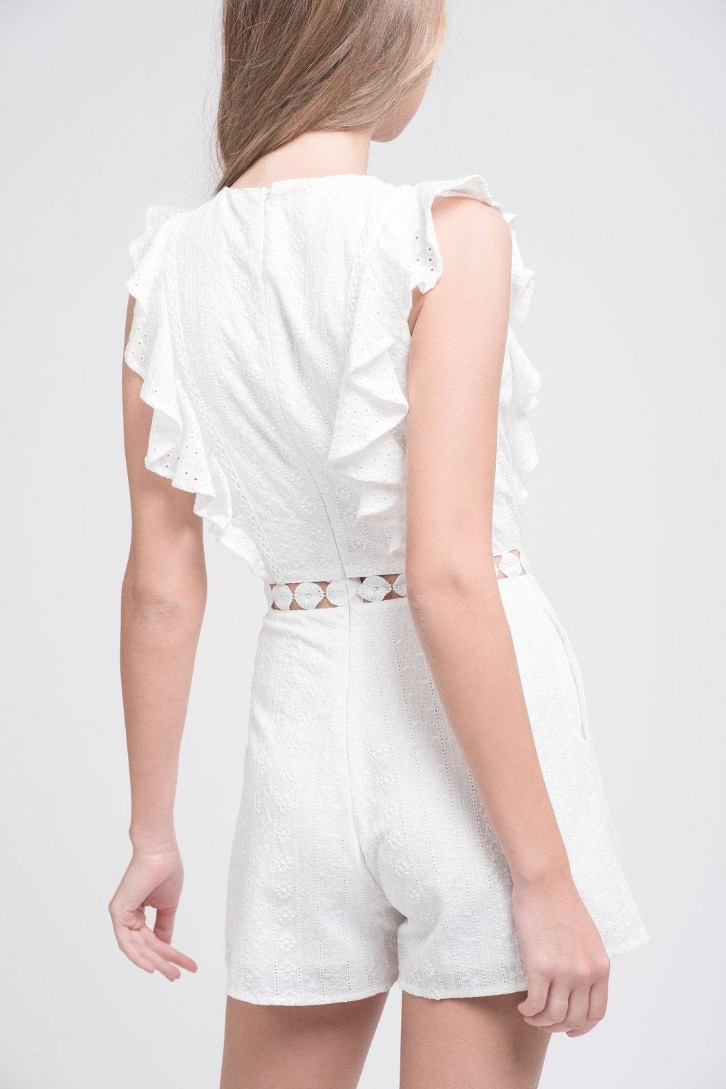 bb15c85261d33 J.O.A. White Ruffle Romper from Mississippi by Popfizz Boutique ...