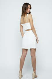 Kayla's Armoire White Ruffle Skirt - Side cropped