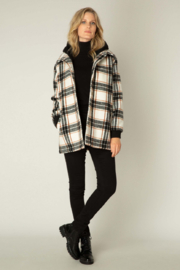 yest  White/Rust/Black Winter Outerwear Coat - Product Mini Image