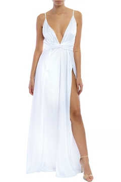 68e66bf0d5c ... luxxel White Satin Maxi - Product List Image