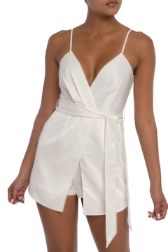 910bab462ec ... luxxel White Satin Romper - Product List Image