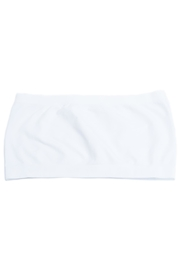 Zenana White Seamless Bandeau - Front cropped