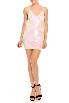 privy White Sequin Dress - Product List Image