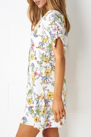 frontrow White Shift Dress - Front full body