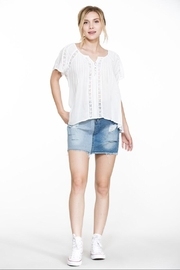 En Creme White Short-Sleeve Top - Product Mini Image