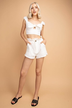 lelis White Shorts Set - Product List Image
