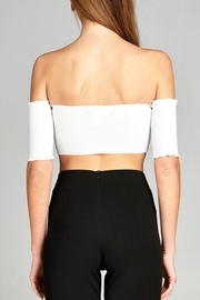 Minx White Shring Crop - Back cropped