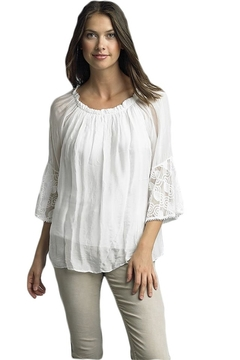 Tempo Paris White Silk Blouse - Alternate List Image